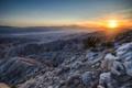 Картинка горы, камни, рассвет, пустыня, California, Riverside County