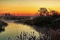 Картинка пейзаж, природа, туман, река, утро