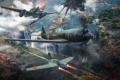 Картинка самолет, огонь, дым, выстрел, plane, aviation, авиа