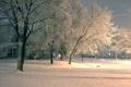 Картинка зима, пейзаж, улица