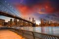Картинка закат, здания, США, sunset, new york city, united states, Ист-Ривер