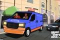 Картинка грузовик, фургон, майкл, gta5, тревор