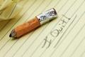 Картинка макро, надпись, карандаш