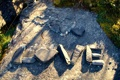 Картинка love, heart, stones, Word