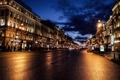 Картинка машины, движение, улица, Ночь, Питер, Санкт-Петербург, Россия