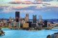 Картинка City, USA, Pittsburgh, briges, houses.
