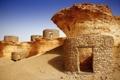 Картинка песок, руины, небо, Zekreet, Qatar, камни