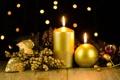 Картинка стол, праздник, свечи, декорации, золотые, свечки