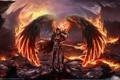 Картинка ангел, angel, огненые крылья