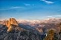 Картинка лес, горы, вид, высота, долина, Калифорния, California