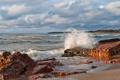 Картинка море, камни, волна