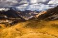 Картинка небо, горы, тучи, природа, долине