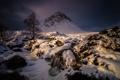 Картинка зима, горы, ночь