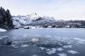 Картинка озеро, лёд, прорубь