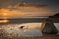 Картинка море, пейзаж, закат, природа, камень