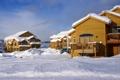 Картинка фото, Дома, Зима, Город, Снег