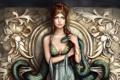Картинка девушка, змея, Liliana Moga