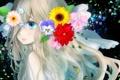 Картинка грусть, девушка, цветы, слезы, art, milkuro