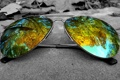 Картинка отражение, дерево, очки