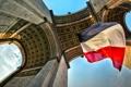 Картинка Франция, Париж, флаг, Триумфальная арка
