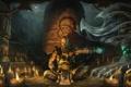 Картинка monk, медитация, дым, храм, воин, монах, арт