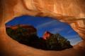Картинка звезды, пещера, небо, скалы, вечер, Utah, арка