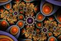 Картинка свет, цветы, узор, цвет, круг, кольцо, симметрия