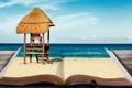 Картинка песок, море, креатив, книга, закладка