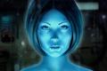 Картинка взгляд, девушка, игра, стрижка, арт, halo, Cortana