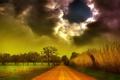 Картинка дорога, небо, пейзаж, тучи, природа