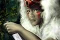 Картинка лицо, рука, аниме, маска, нож, мех, принцесса мононоке