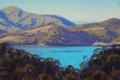 Картинка вода, деревья, природа, озеро, холмы, арт, artsaus