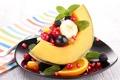 Картинка ягоды, апельсин, фрукты, банан, ежевика, fruit, orange