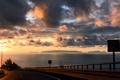 Картинка дорога, машина, закат