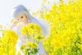 Картинка цветы, природа, игрушка, кукла, блондинка