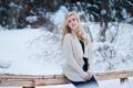Картинка зима, девушка, McKenna