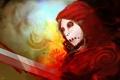 Картинка кровь, меч, воин, маска, арт