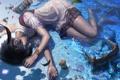 Картинка песок, море, девушка, поза, ракушки, art, reishin