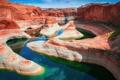 Картинка небо, вода, отражения, природа, река, скалы, каньон