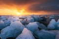 Картинка закат, природа, лёд