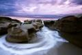 Картинка пляж, камни, рассвет, Norway, Bremanger