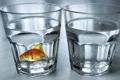 Картинка фон, рыба, стаканы