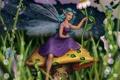 Картинка девушка, цветы, гриб, крылья, фея