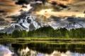 Картинка деревья, горы, природа, озеро, Grand Teton National Park, Oxbow Bend Lake