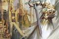 Картинка игра, крылья, Город, Ангел, Меч, Heroes 5, Герои 5