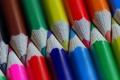 Картинка макро, фон, Coloured Pencils