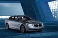 Картинка Ночь, BMW, Машина, БМВ, Капот, Фары, 5 series