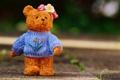 Картинка игрушка, медведь, мишка, плюшевый, трикотажный