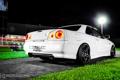 Картинка ниссан, тюнинг, R34, ночь, скайлайн, Nissan Skyline