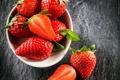 Картинка ягоды, клубника, миска, fresh, strawberry, berries